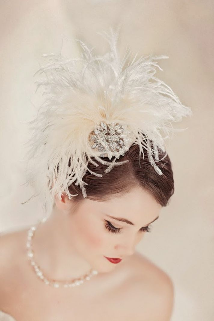 Feather head chic by Powder Blue Bijoux