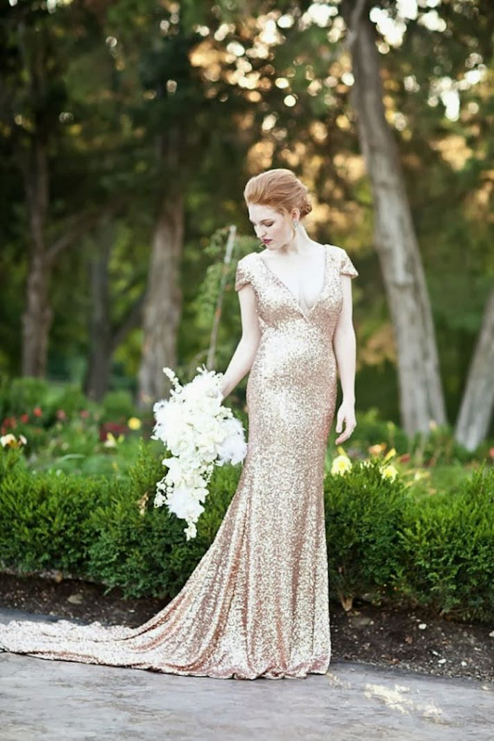 Sequined wedding dress by Willow Moone