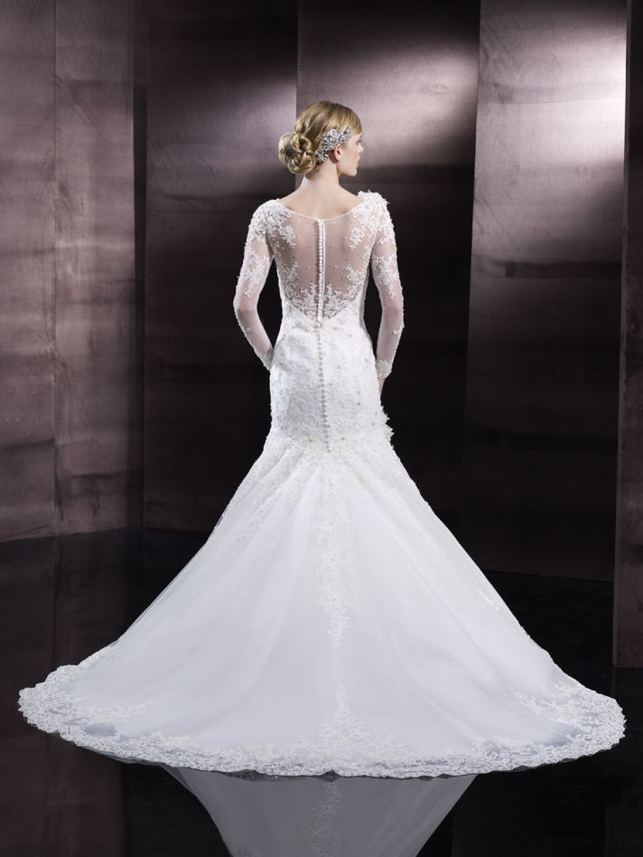 Mermaid lace wedding gown from Moonlight Couture