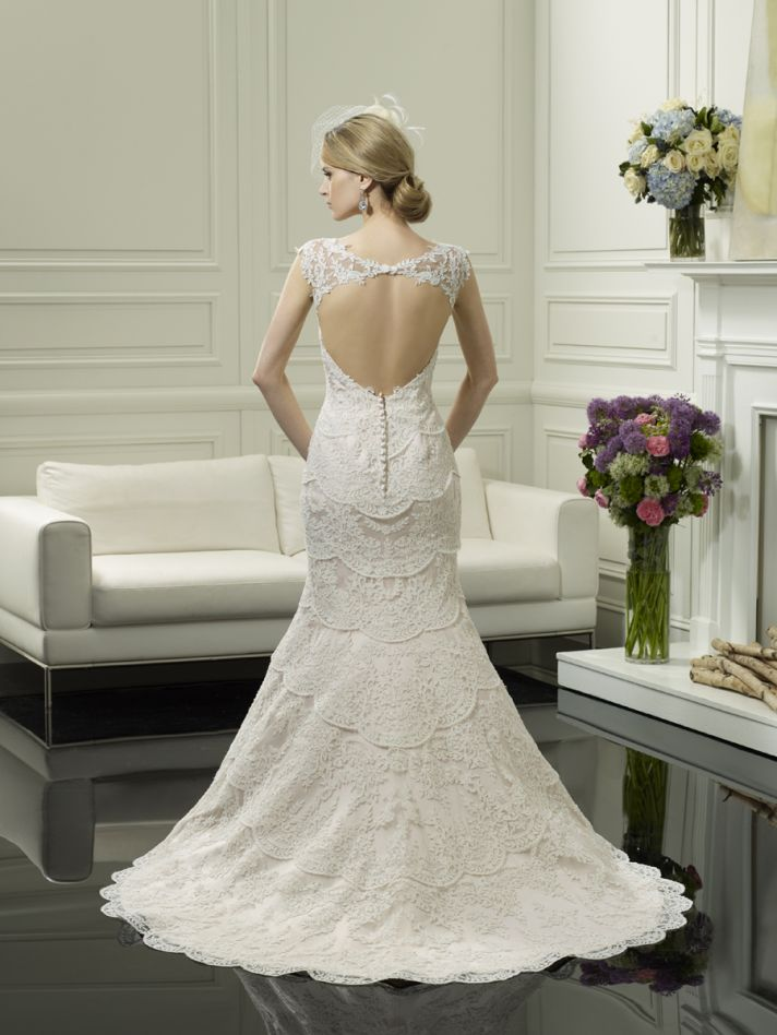 Scalloped lace wedding gown from Moonlight Couture