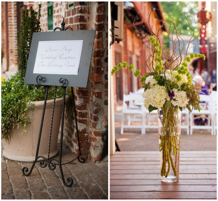 Urban ceremony decor