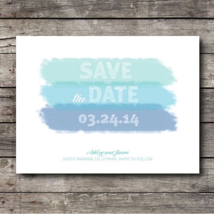 Watercolor save the date