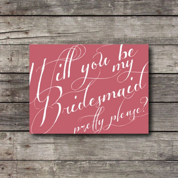 Will you be my bridesmaid stationery