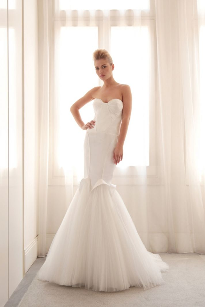 Tulle mermaid wedding gown by Gemy Bridal
