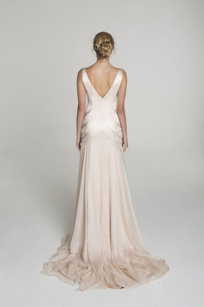 Blush wedding dress from Alana Aoun