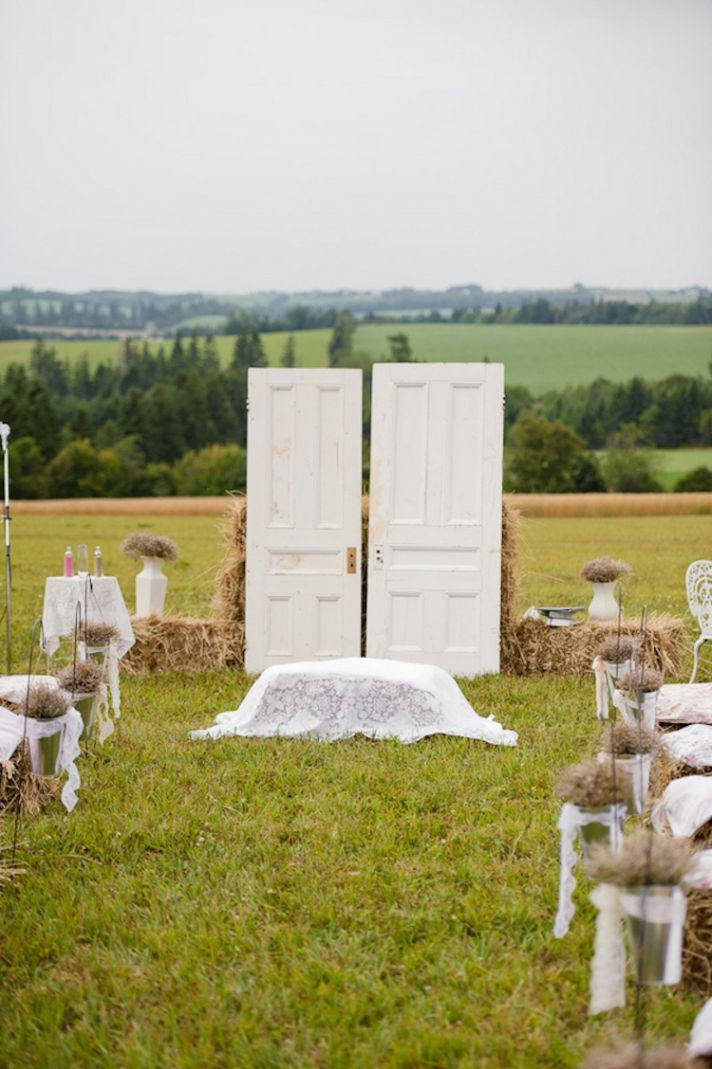 Doors for a rustic ceremony altar