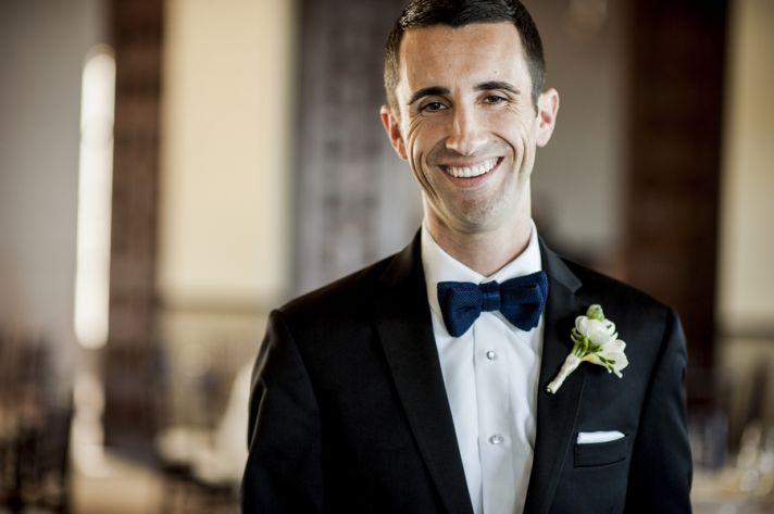 Handsome black tie groom