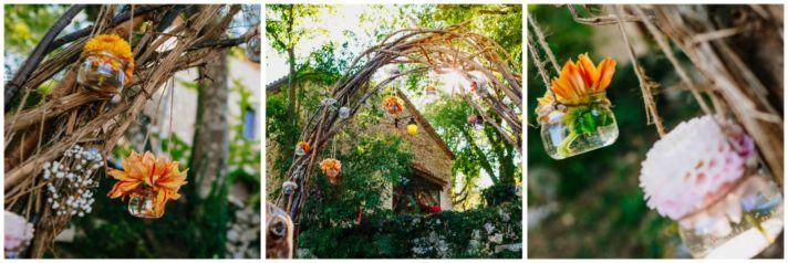 Rustic branch altar inspiration