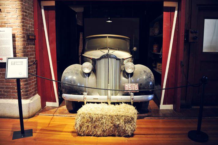 Auto museum for a wedding venue