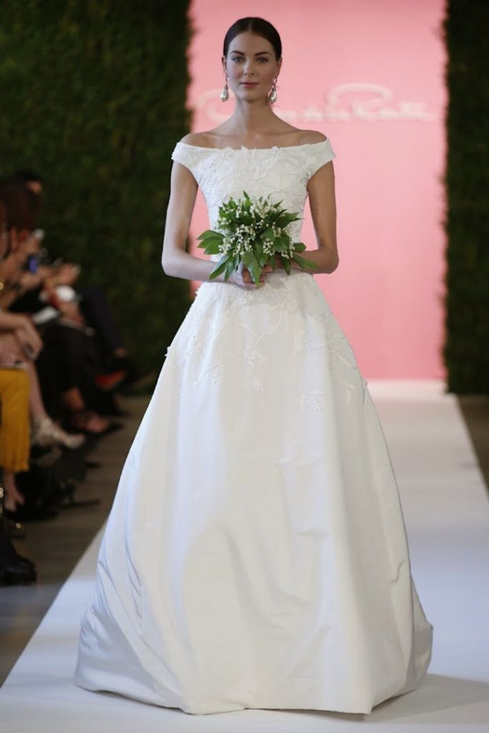 Classic wedding gown from Oscar de la Renta