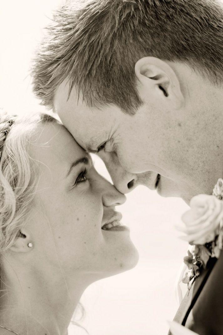Sweet real wedding couple