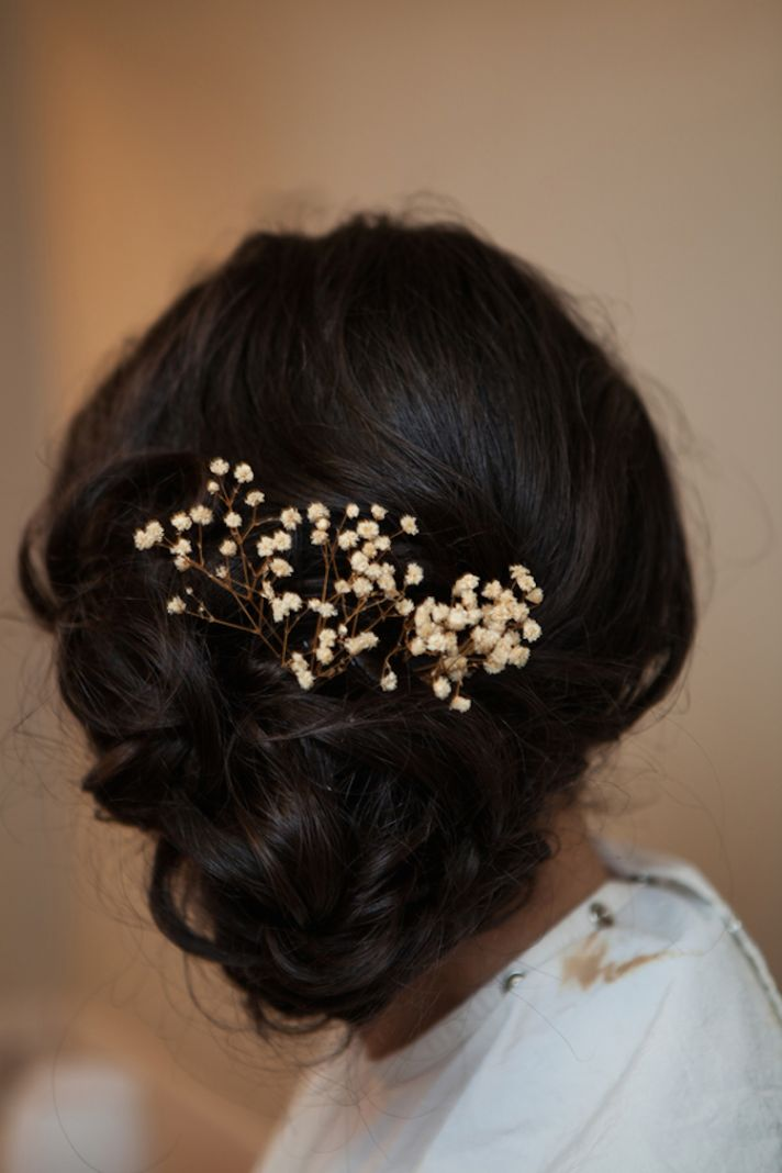 Baby s breath rustic hairstyle inspiration