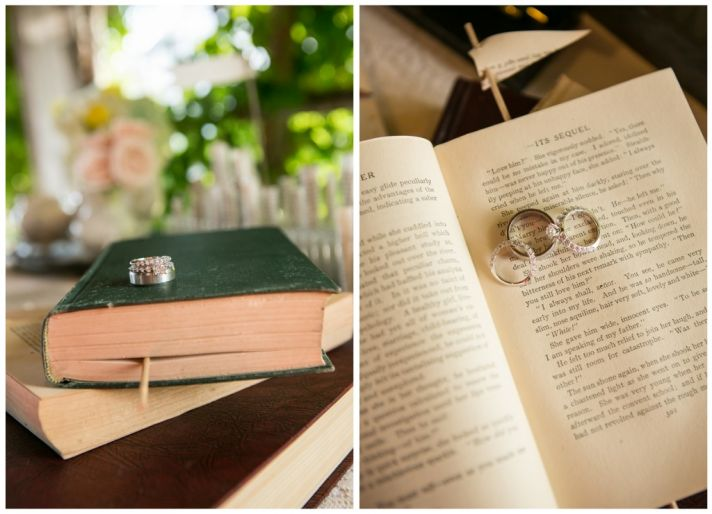 Book worm wedding rings