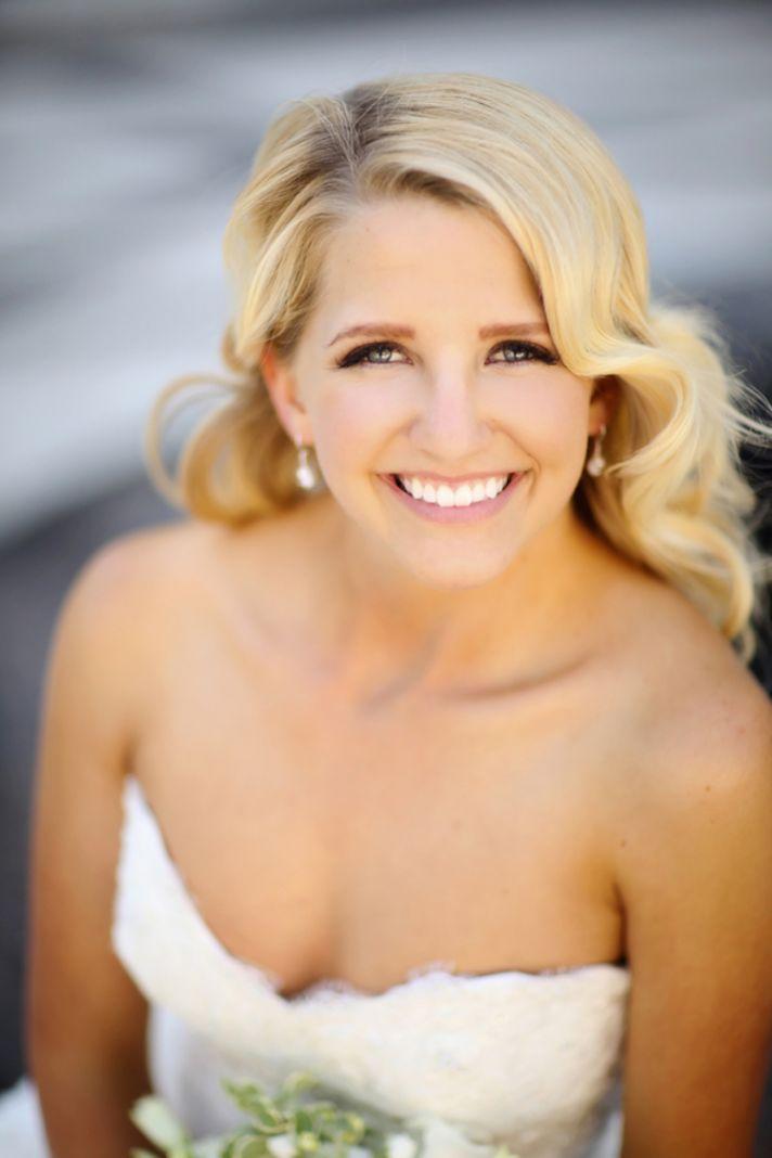 Blonde bride beauty