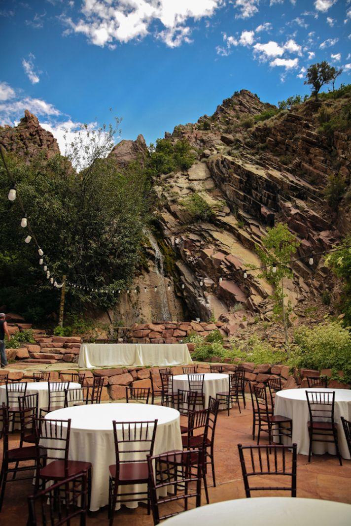 Utah outdoor wedding reception