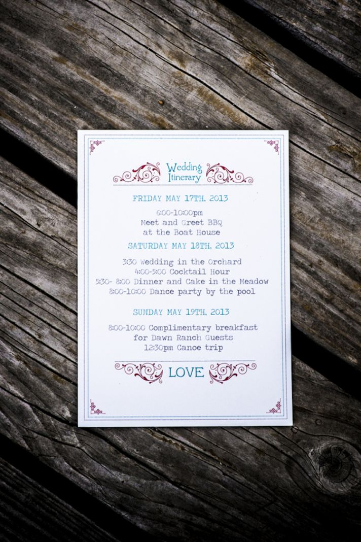 Simple yet unique wedding invitations