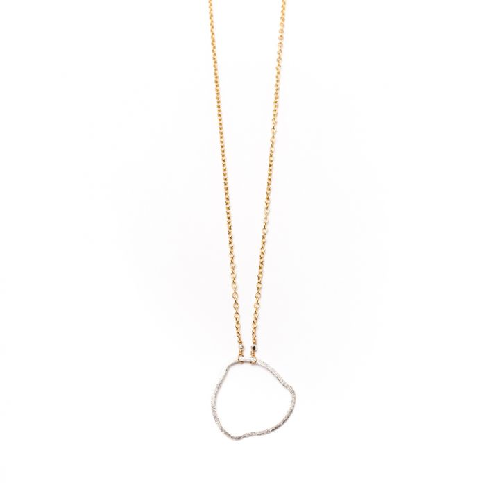 Gold and white gold necklace