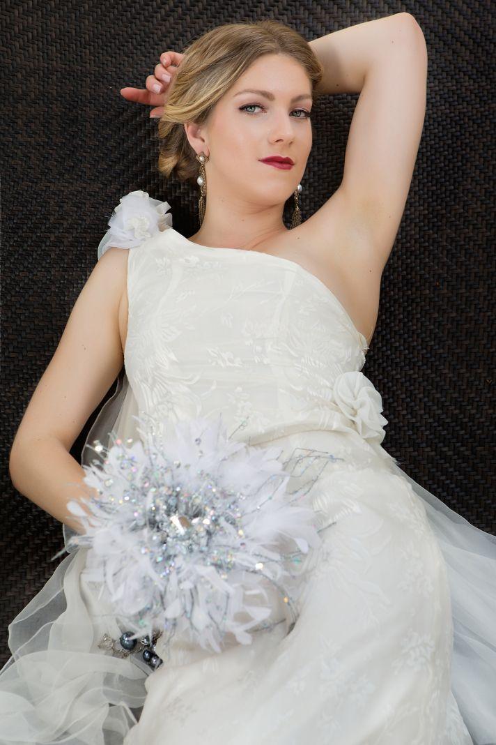 Bold romantic wedding makeup