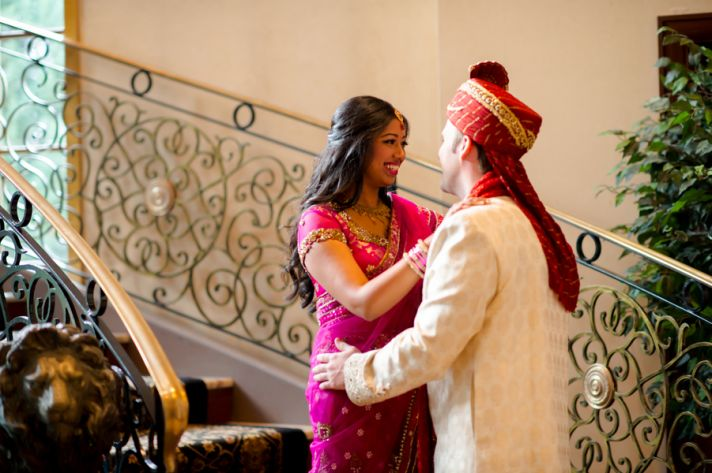 Real South Asian Couple First Look