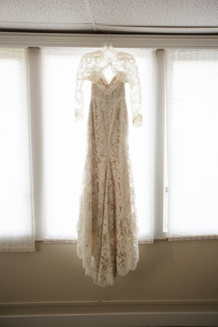 Lace Dress with Full Sleeves