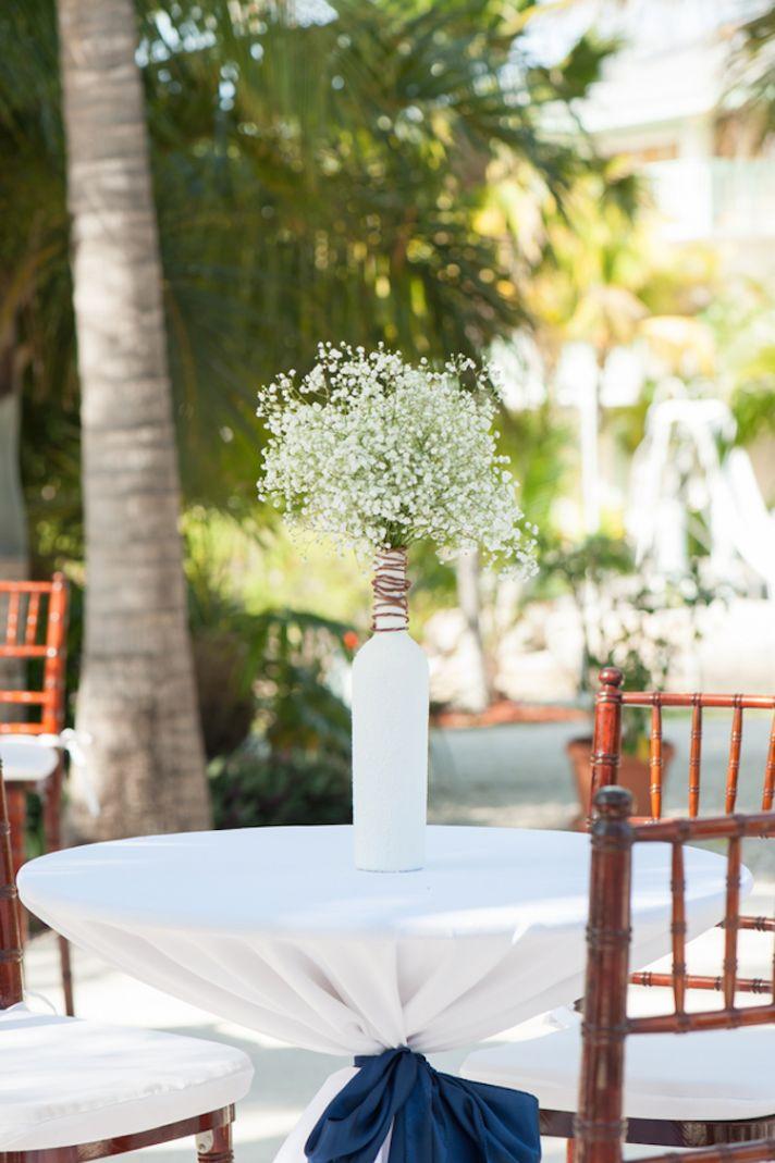 Babys Breath Beach Wedding Decor