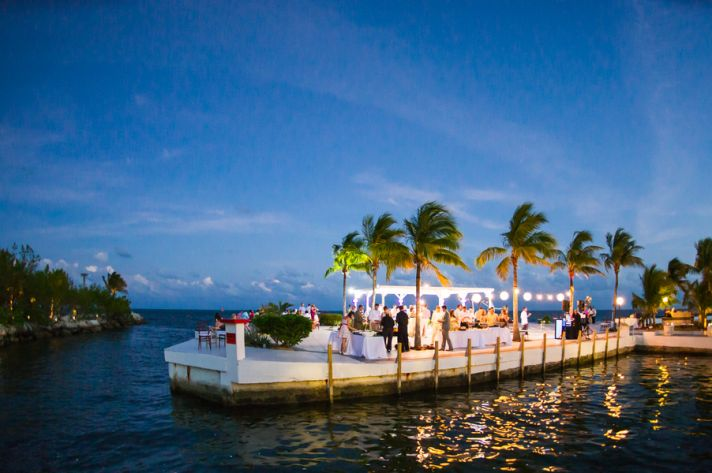 Wedding Reception on Dock
