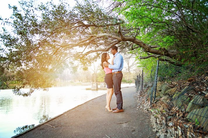 Posing under a Tree