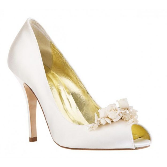 Ariel Bridal Shoe with Floral Detail