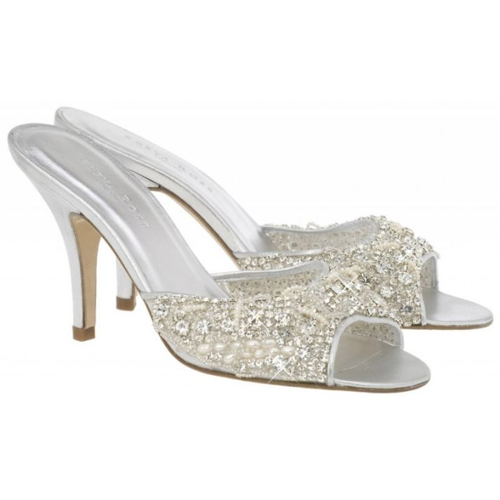 Cinderella Slipper with crystals and pearls