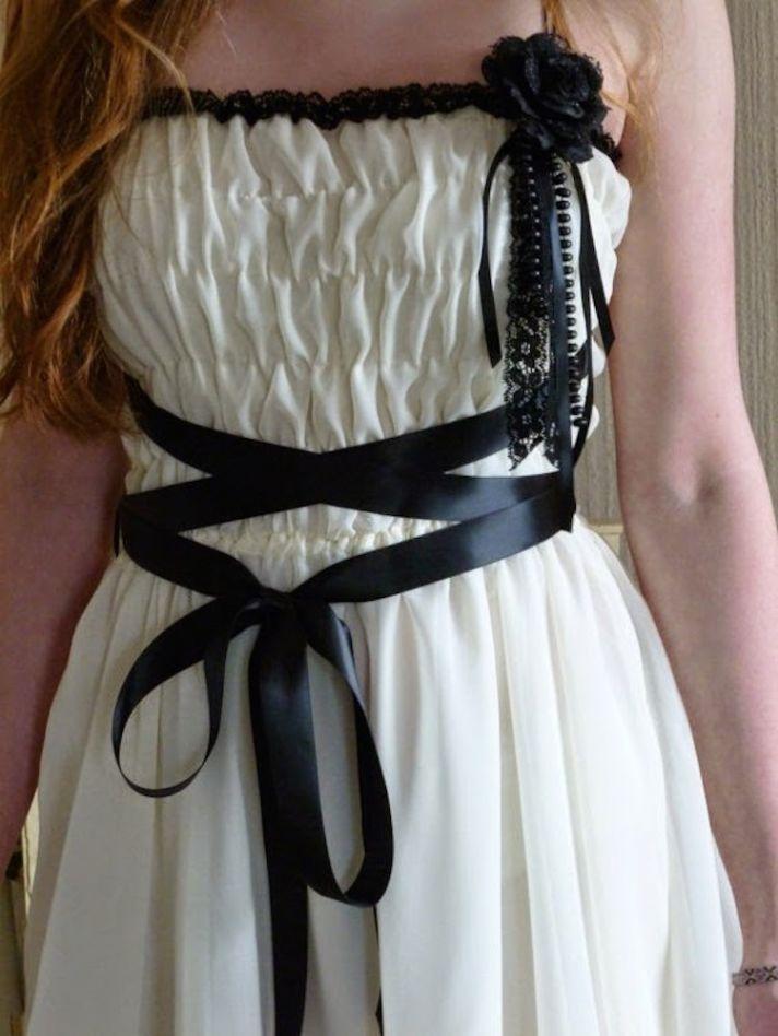 Shirred Grecian Inspired Reception Dress