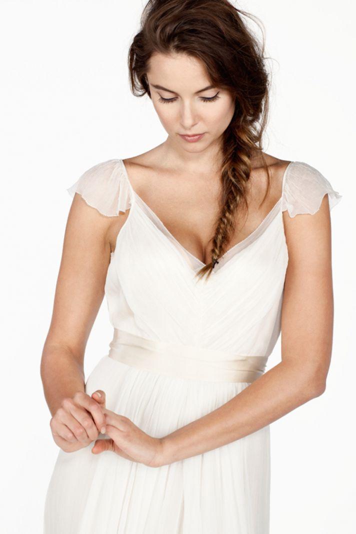 Romantic Sheer V Neck Silk Chiffon Dress
