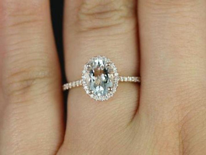 Rose Shaped Engagement Ring Box - Rings