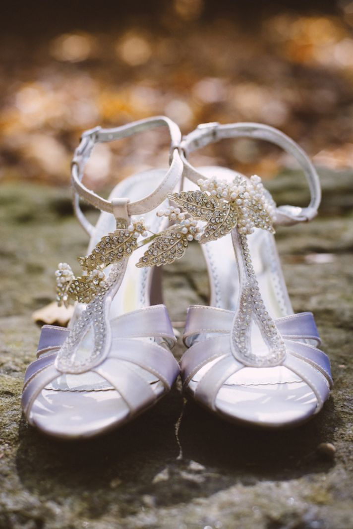 Bridal Shoes and Pretty Leaf Inspired Hair Accessory