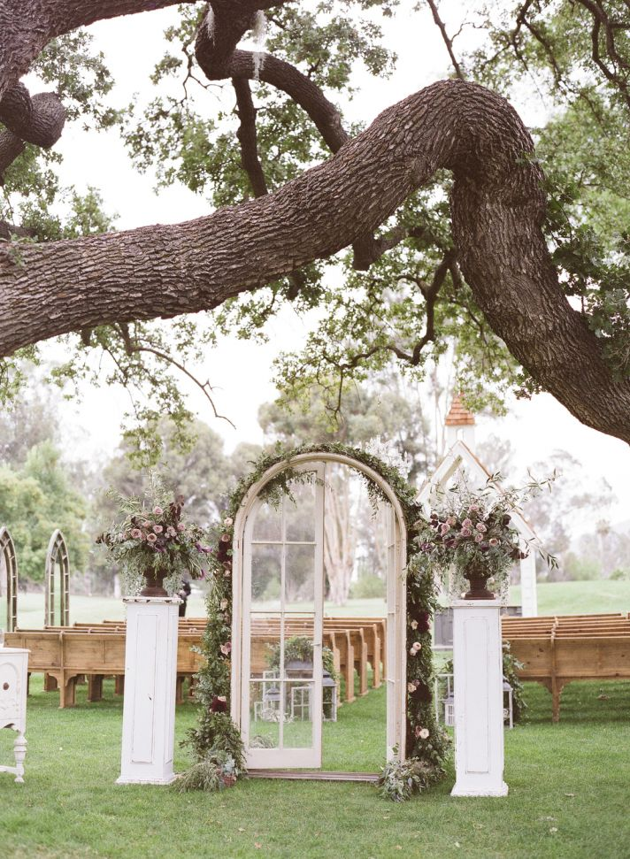 Romantic French Door Ceremony Entrance