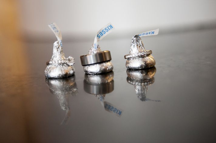 Hersheys Kisses with Wedding Rings