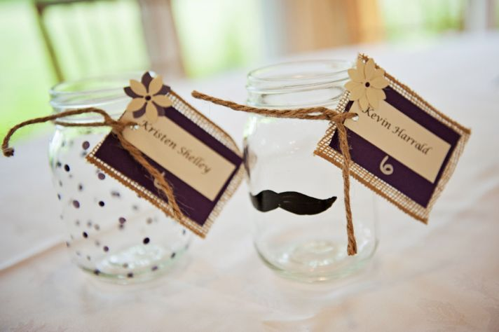 Cute DIY Personalized Mason Jar Drinking Glasses