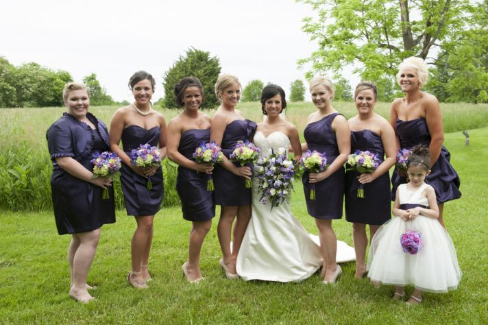 Beautiful Bride with Her Lovely Ladies
