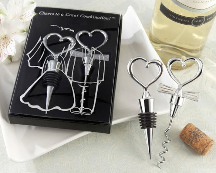His and Hers Corkscrew and Wine Stopper