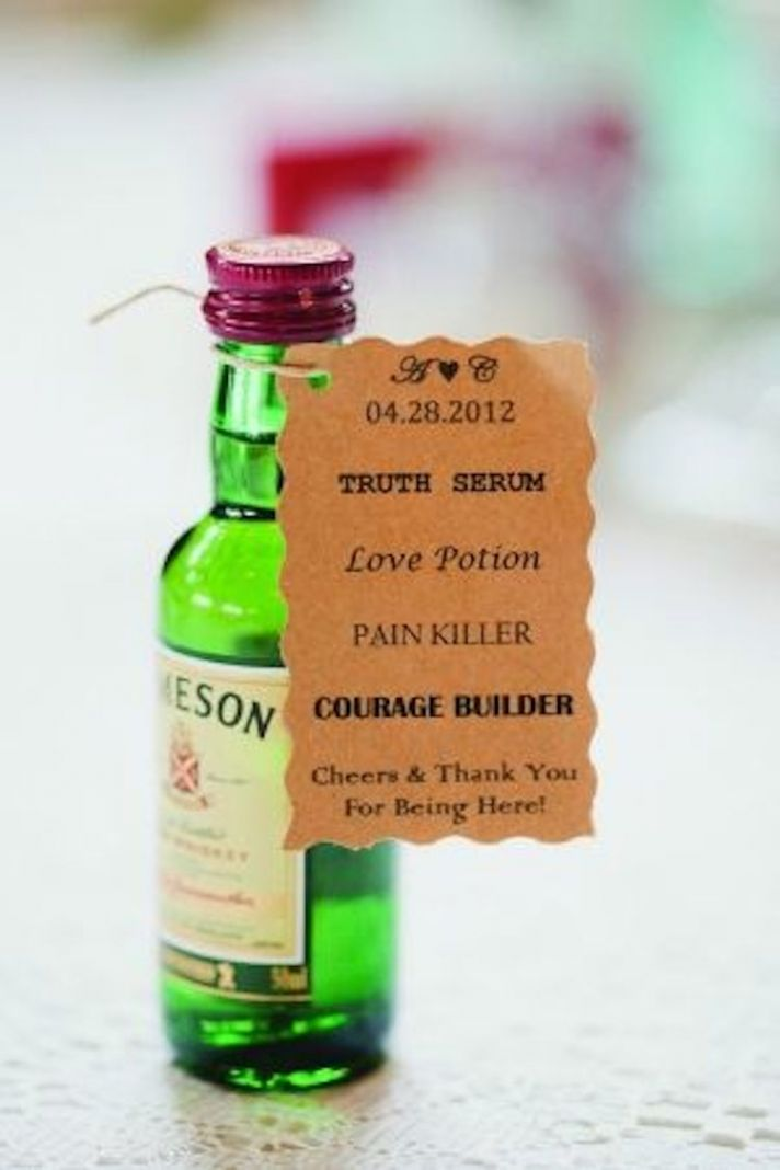Mini Jameson Bottle Favors