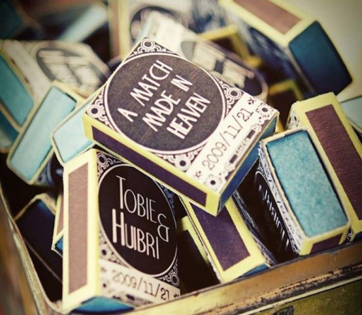 Customizable Match Box Favors