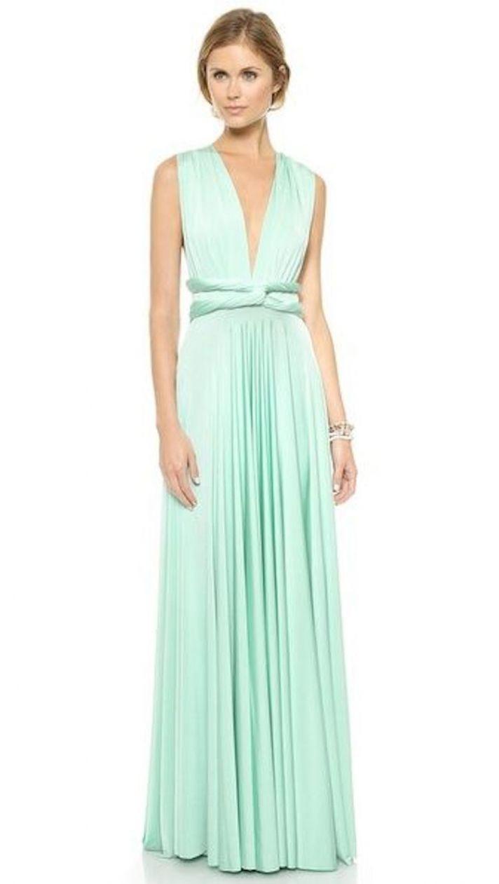 Convertible Maxi Bridesmaid Dress in Mint