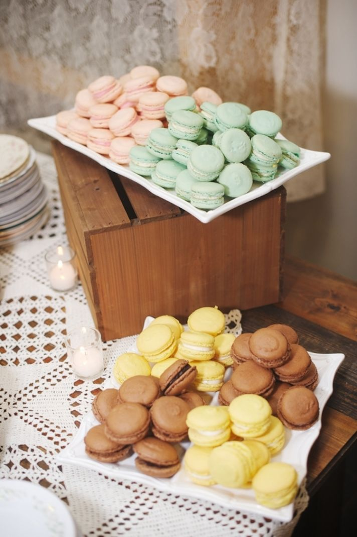 Colorful Macaroon Desserts