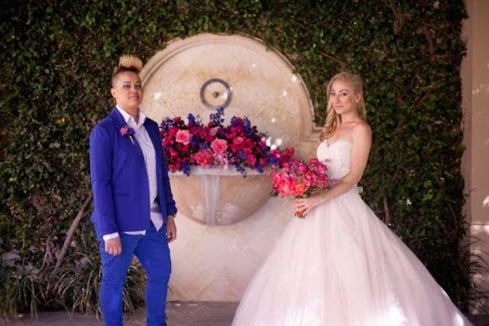 Two Brides In Fun Wedding Attire