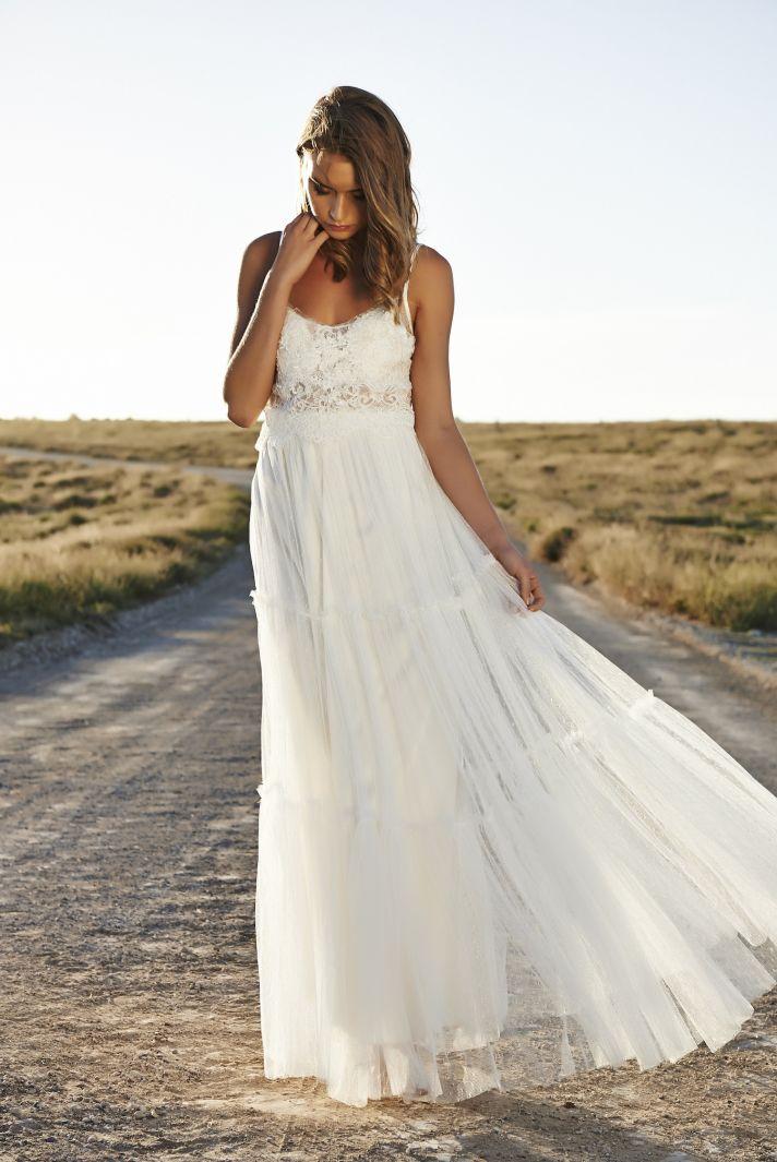 GraceLovesLace 2015 Claudia Front Grace Loves Lace The Sophisticated Bohemian Wedding Dresses