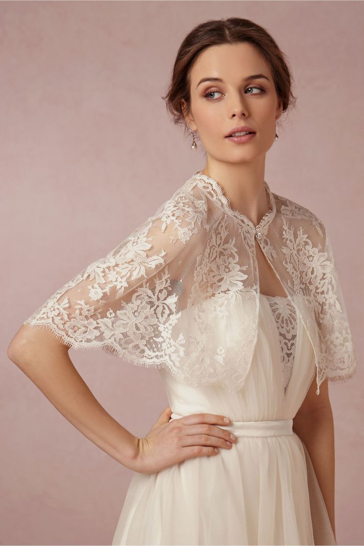 Get The Look At Any Budget Wedding Dress Capelets