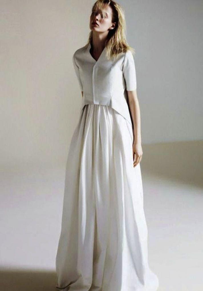 Trend Alert The Shirtwaist Wedding Dress Onewed