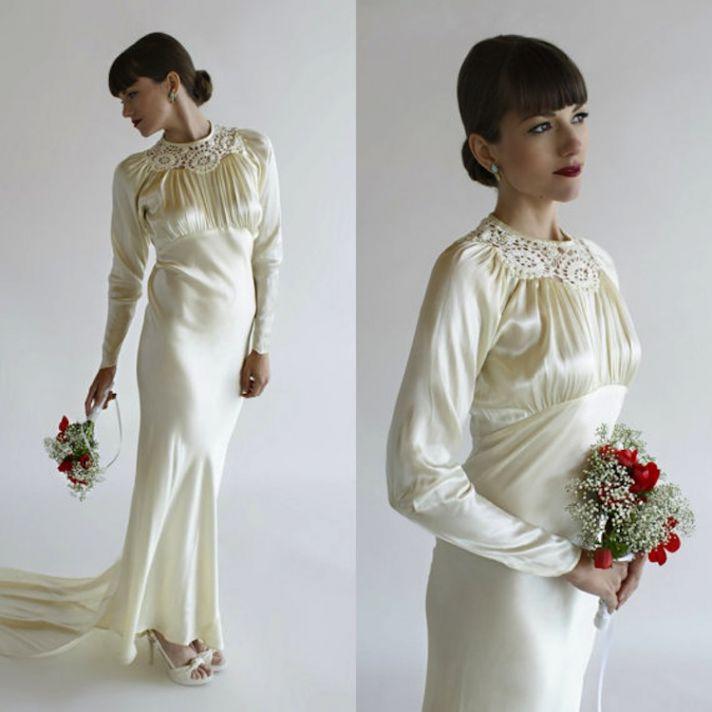 Sleek Wedding Gowns 70 Cute Etsy Beloved Vintage Bridal