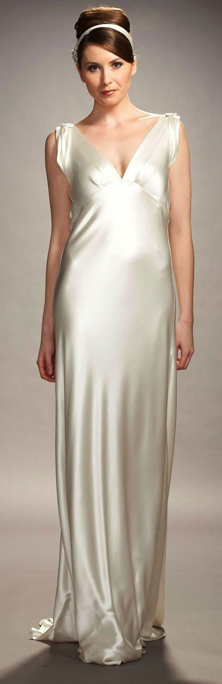 The liquid satin dress onewed for Satin silk wedding dresses