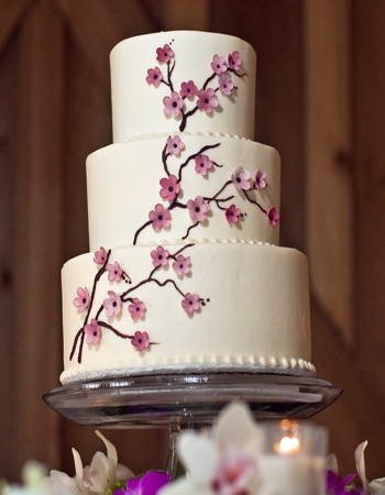 Classic Cherry Blossom Wedding Cake Credit none