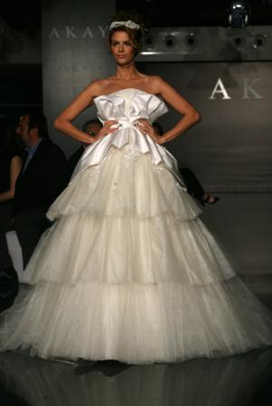 Akay maison de couture wedding dress style 1009 dress onewed for Akay maison de couture